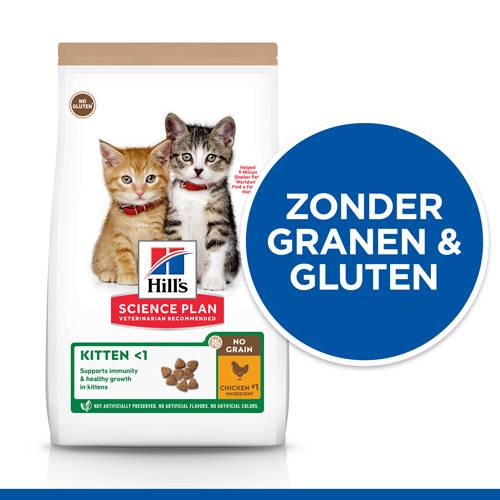 Hill's Science Plan Kitten No Grain Kattenvoer met kip