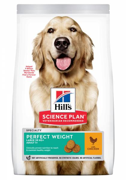 Hill's Science Plan Perfect Weight Large Breed Adult Hondenvoer Kip 12 kg