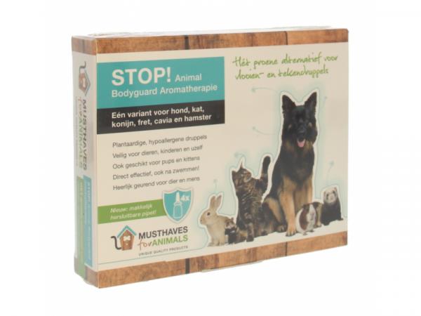 Stop Animal Bodyguard Aromatherapie 4 Flesjes