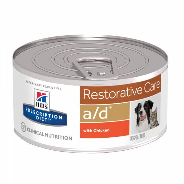 Hill's Prescription Diet AD Restorative Care voor Hond en Kat 156 gr 24 blikjes