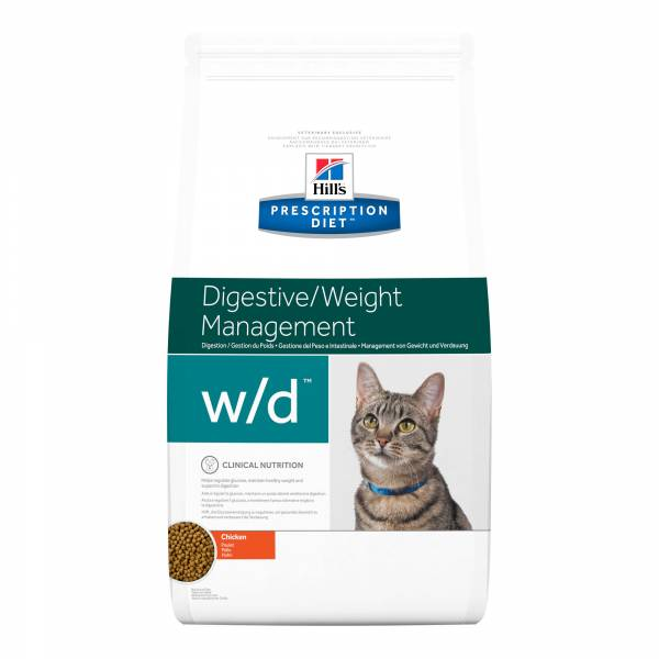 Hill's Prescription Diet WD Digestive/Weight Management Kattenvoer Kip