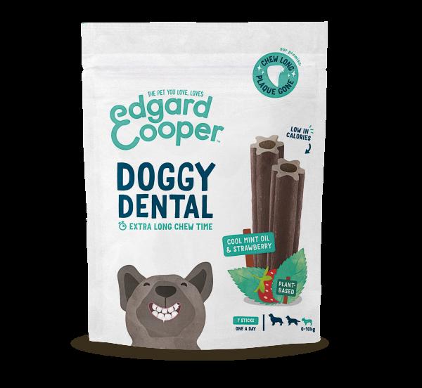 Edgard & Cooper Doggy Dental Sticks - Muntolie en Aardbei