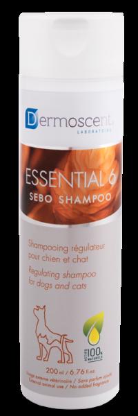 Datumvoordeel (op=op) Dermoscent Essential 6 Sebo Shampoo Hond Kat 200 ml