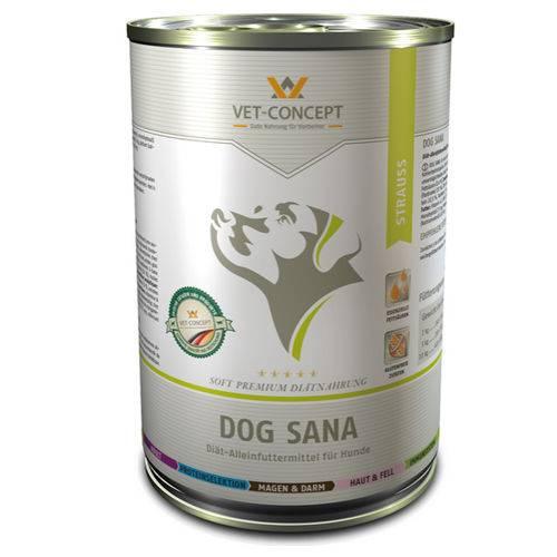 Vet-concept Dog Sana Struisvogel 6 x 400 gram