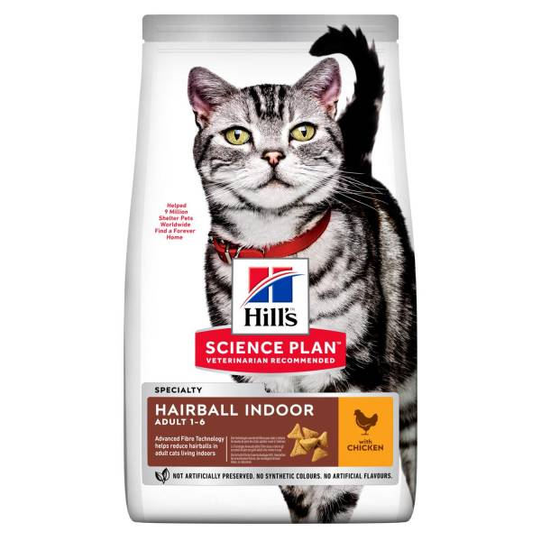 Hill's Science Plan Hairball Indoor Adult Kattenvoer Kip