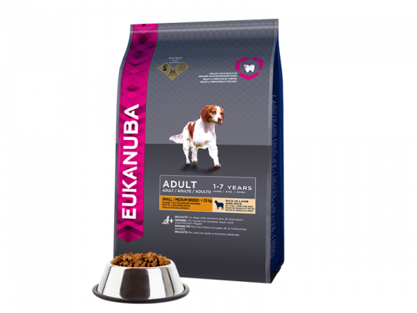 Eukanuba Dog Adult Small en Medium Breed Lamb-Rice 12 kg
