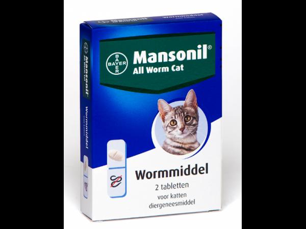 Mansonil All Worm Ontwormingstabletten Kat