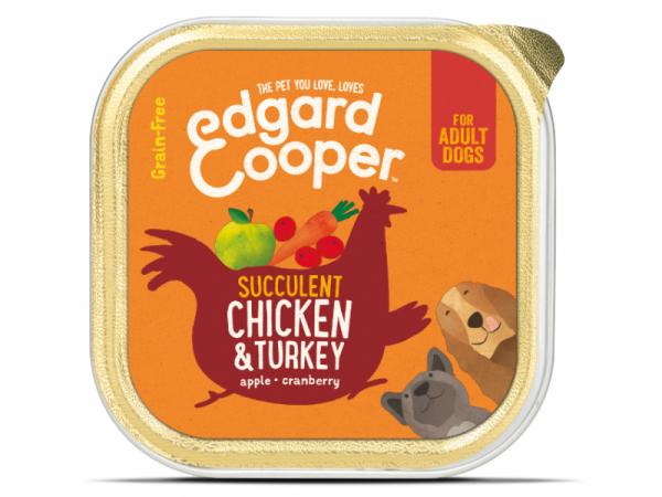 Edgard & Cooper Adult Kuipjes Kip & Kalkoen 11 x 150 gram