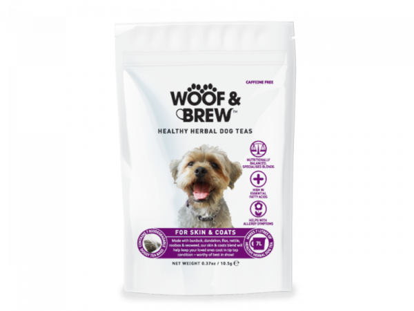 Woof & Brew Hondenthee Skin & Coat 6 x 28 theezakjes