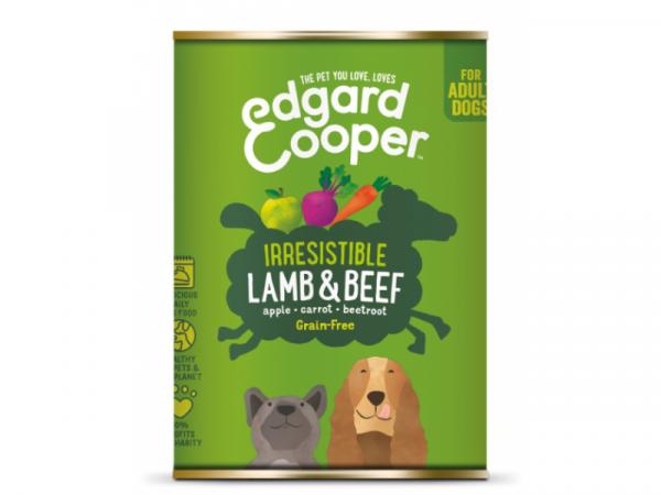 Edgard & Cooper Adult Hondenvoer Blikjes Lam & Rund 6 x 400 gram
