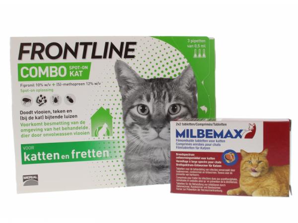 Milbemax Combi Frontline Combo Teek Vlo Worm Kat