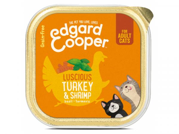 Edgard & Cooper Adult Kuipjes Kalkoen en Garnalen 19 x 85 gram