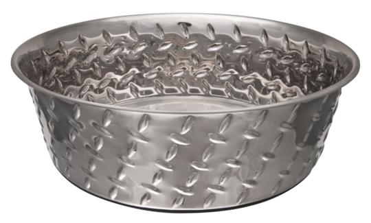 Voerbak Diamond Plated Bowl