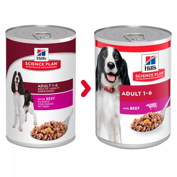 Hill's Science Plan Canine Adult Beef 12 x 370 gram