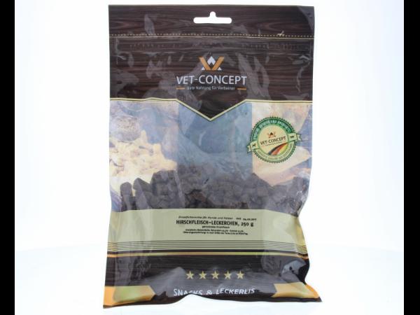 Vet-concept Hertenvleessnacks Snack Hond Kat 250 gram