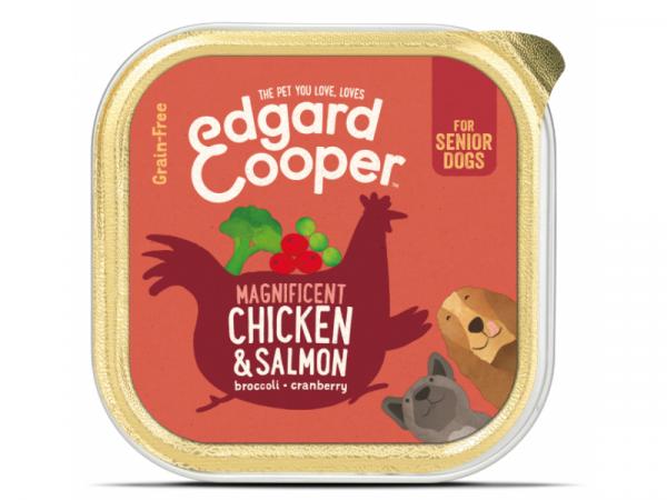 Edgard & Cooper Senior Kuipjes Kip en Zalm 11 x 150 gram