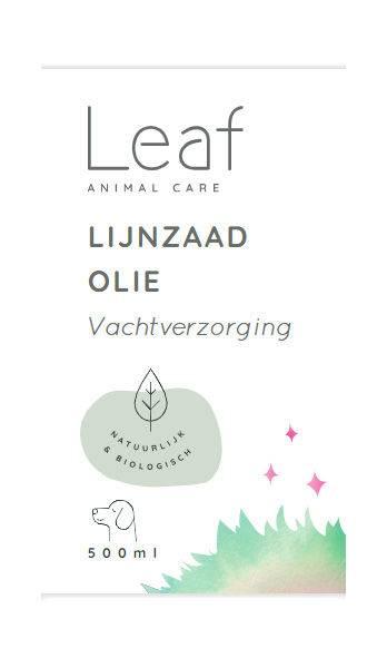 Leaf Lijnzaadolie Vacht Hond 500 ml