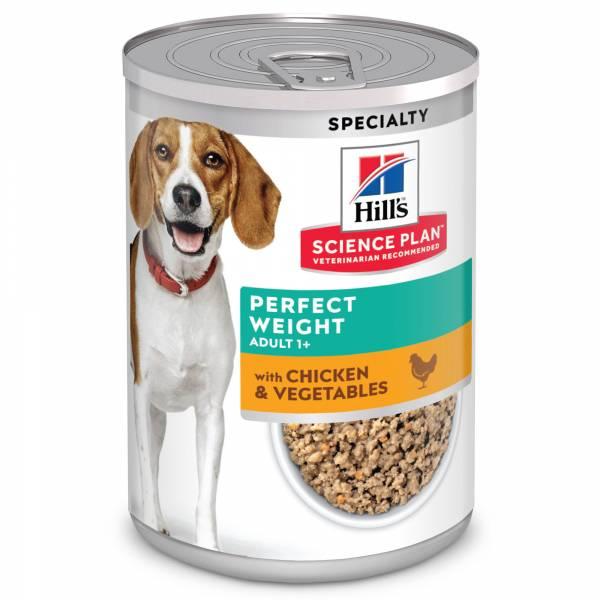 Hill's Science Plan Perfect Weight Hondenvoer Kip & Groenten 12 x 363 gram