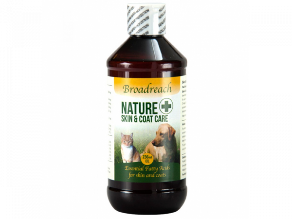 Broadreach Nature+ Skin Coat Allergy Welness Care Huid Hond Kat 236 ml