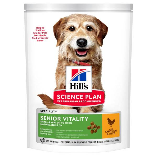 Hill's Science Plan Senior Vitality Small & Mini Mature Adult 7+ Hondenvoer Kip & Rijst