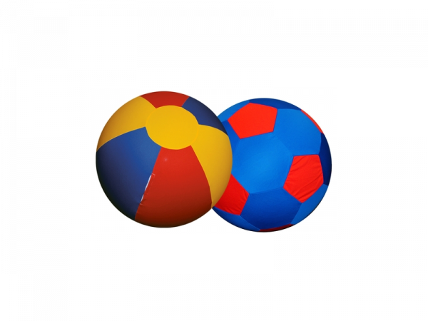 Jolly Mega Ball Paard 100 cm Cover Red-Blue-Yellow