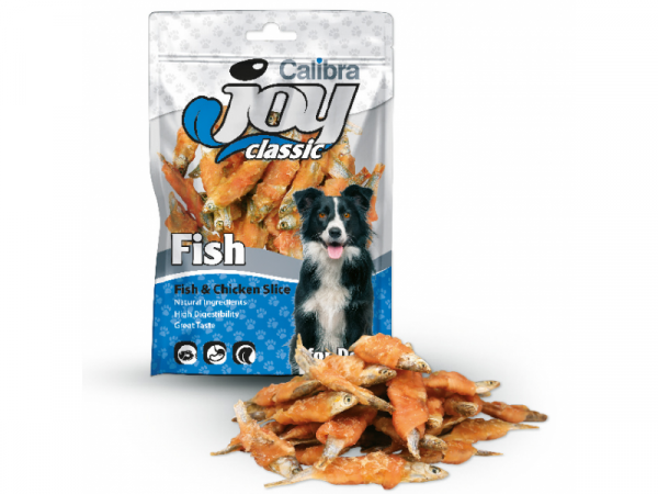 Calibra Joy Dog Fish Chicken Slice 80 gram