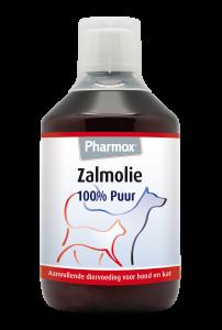Pharmox Zalmolie 100% Puur Hond Kat 425 ml
