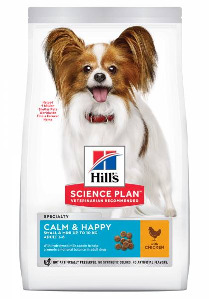 Hill's Science Plan Calm and Happy Small & Mini Adult Hondenvoer Kip
