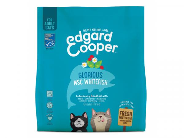 Edgard & Cooper Adult Kattenvoer Verse MSC Witvis met Brandnetel en Kamille 1.75 kg