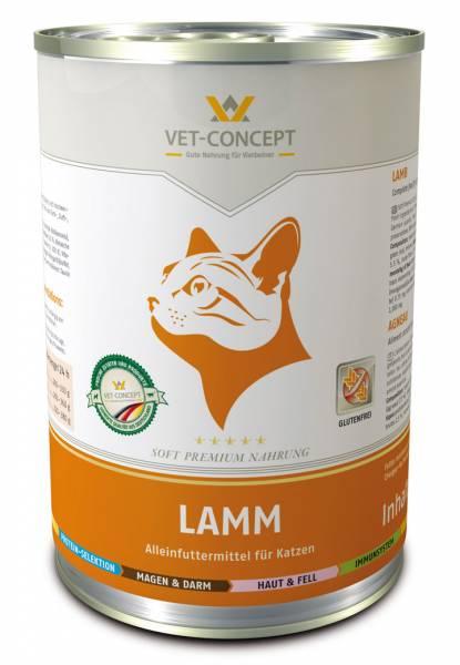 Vet-concept kattenmenu lam 6 x 400 gram