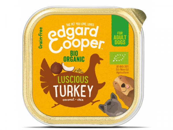 Edgard & Cooper Adult Biologisch Kuipjes Kalkoen 17 x 100 gram