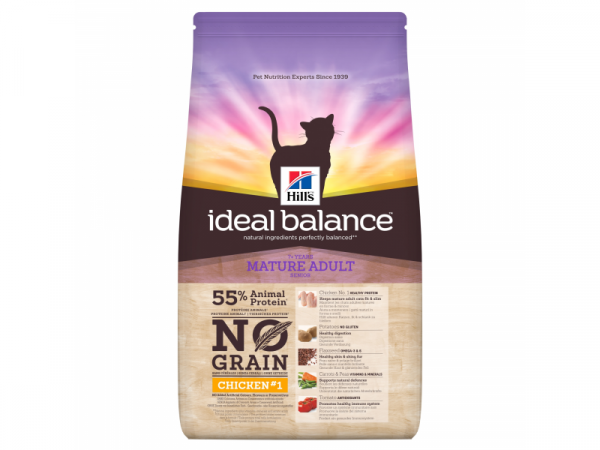 Hill's Ideal Balance No Grain Feline Mature Adult Chicken & Potatoes 1.5 kg