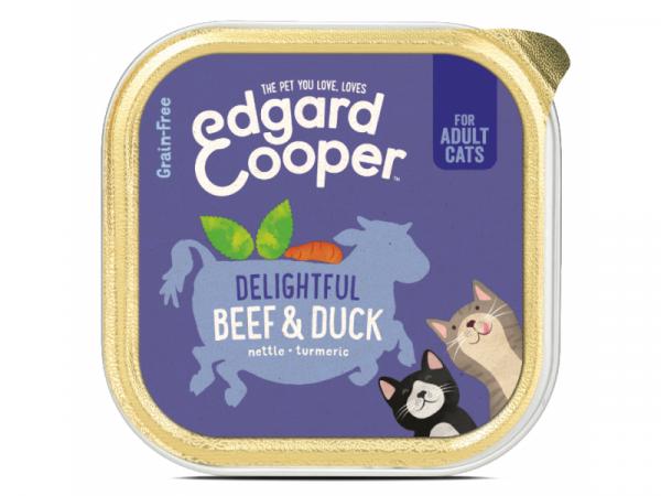 Edgard & Cooper Adult Kattenvoer Kuipjes Rund en Eend 19 x 85 gram