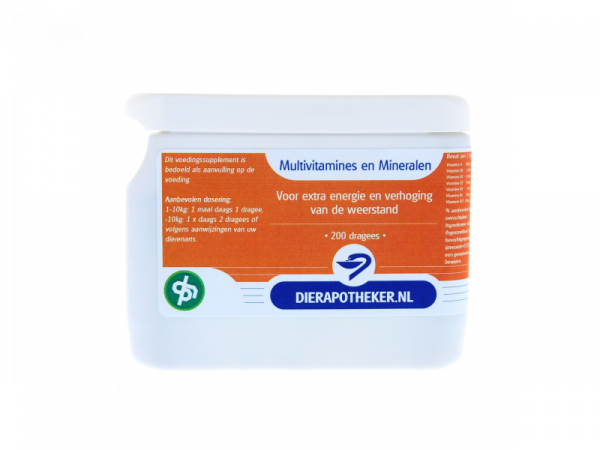 Multivitamines en Mineralen Dierapotheker.nl Huismerk 200 dragees