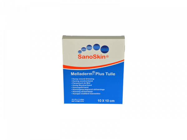 Sanoskin Melladerm Plus Honing Tulle 10 x 10 cm