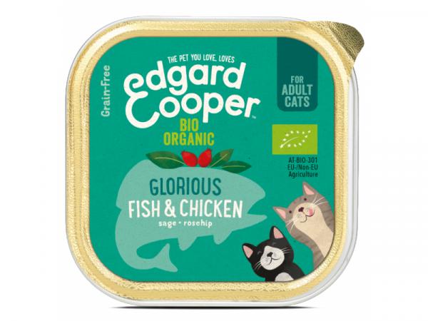 Edgard & Cooper Adult Biologische Kuipjes Vis en Kip 19 x 85 gram