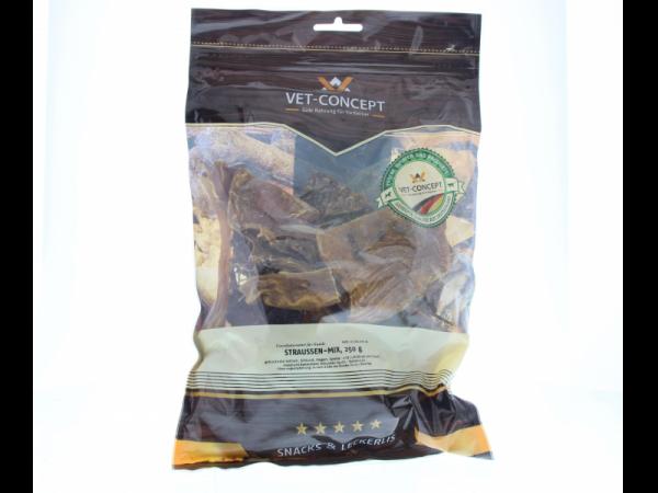 Vet-concept Struisvogelmix Snack Hond 250 gram