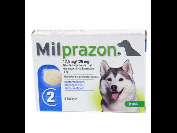 Milprazon Grote Hond 12.5 mg 2 tabletten