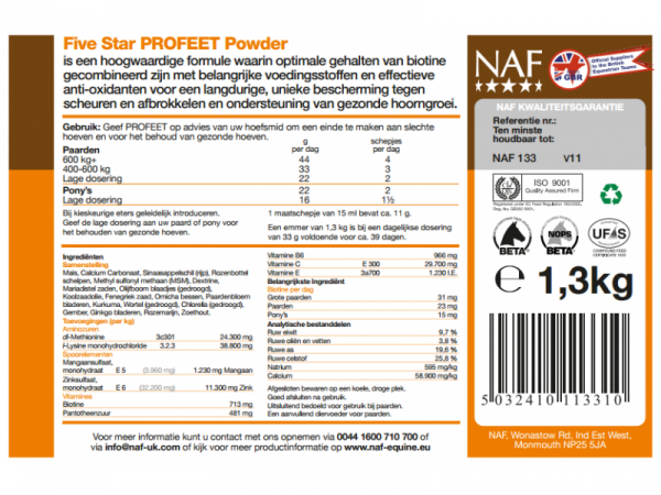 NAF ProFeet Powder