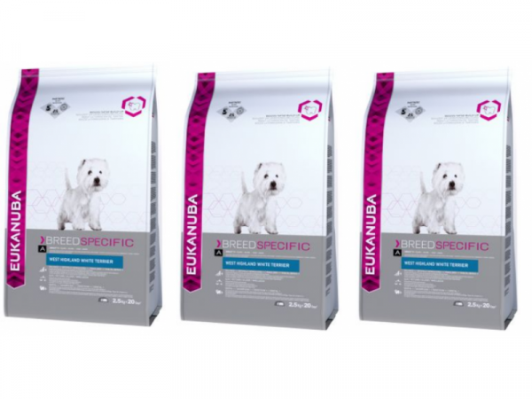 Eukanuba Dog West Highland White Terrier 3 x 2.5 kg