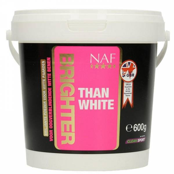NAF Brighter Than White Witpasta Paard