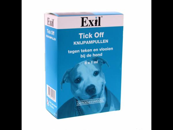 Exil Tick off Hond 6 knijpampullen