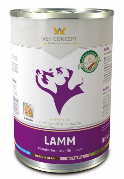 Vet-Concept Lam Hondenmenu