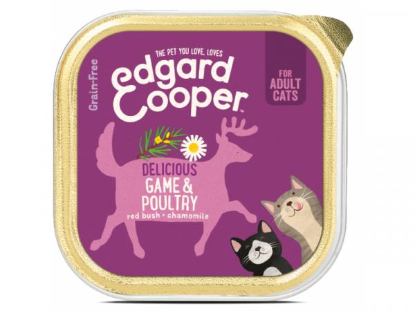 Edgard & Cooper Adult Kuipjes Wild en Gevogelte 19 x 85 gram