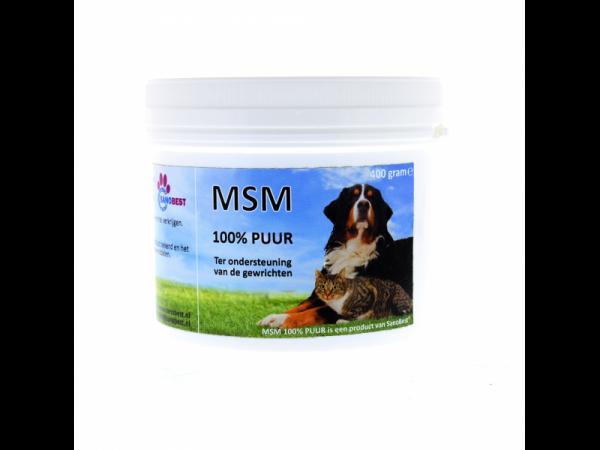 MSM 100 Procent Puur Hond Kat SanoBest 400 gram
