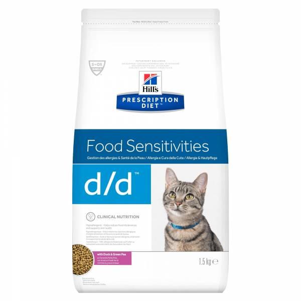 Hill's Prescription Diet DD Food Sensitivities Kattenvoer Eend & Erwt