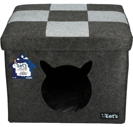 Let's Sleep Pet Cube Mand Kat