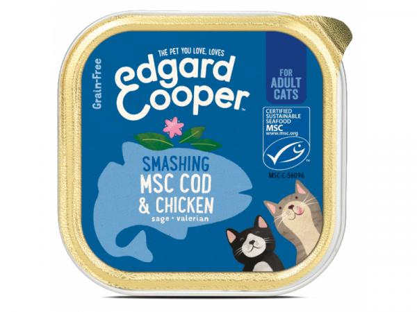 Edgard & Cooper Adult Kuipjes Kip en MSC-Kabeljauw 19 x 85 gram