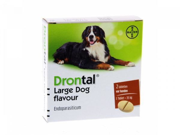 Drontal Large Dog Flavour Ontwormen Grote Hond