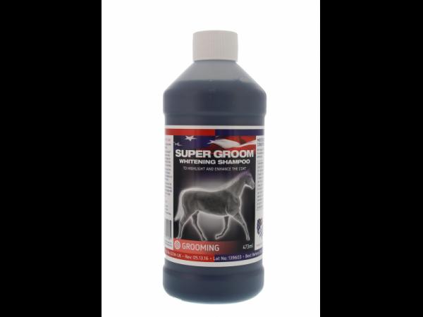 Super Groom Whitening Shampoo Equine America 473 ml